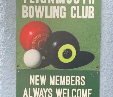 Bowling Club Sign