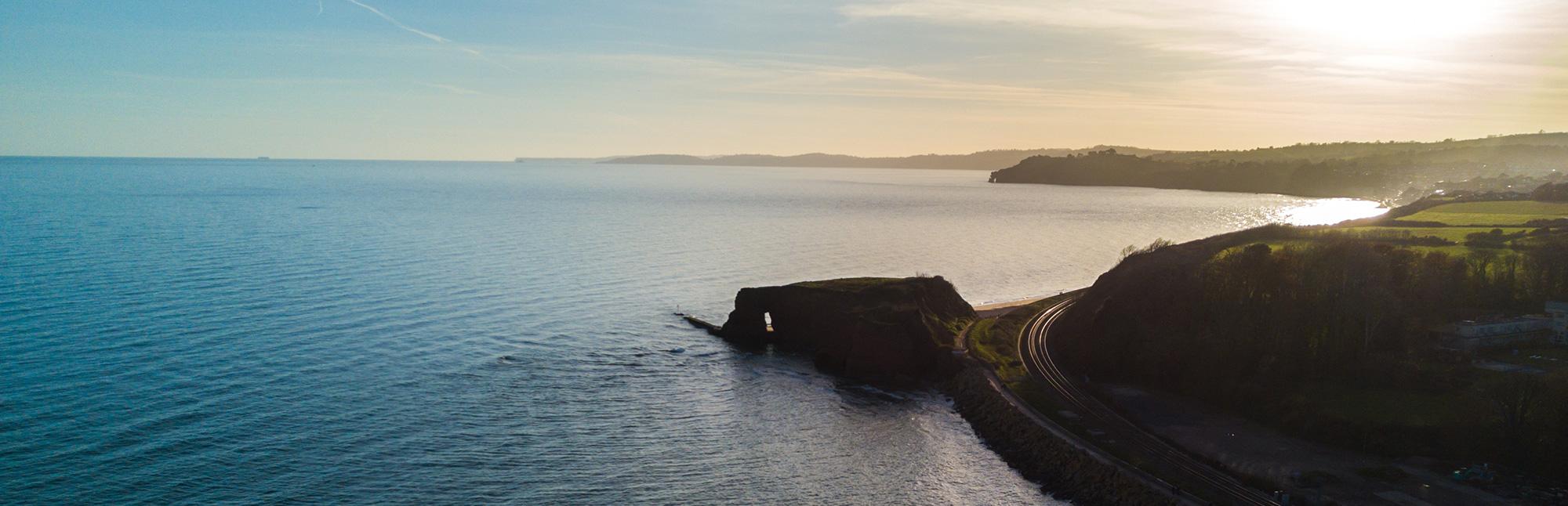 Dawlish Aerial Shot Of Bay
