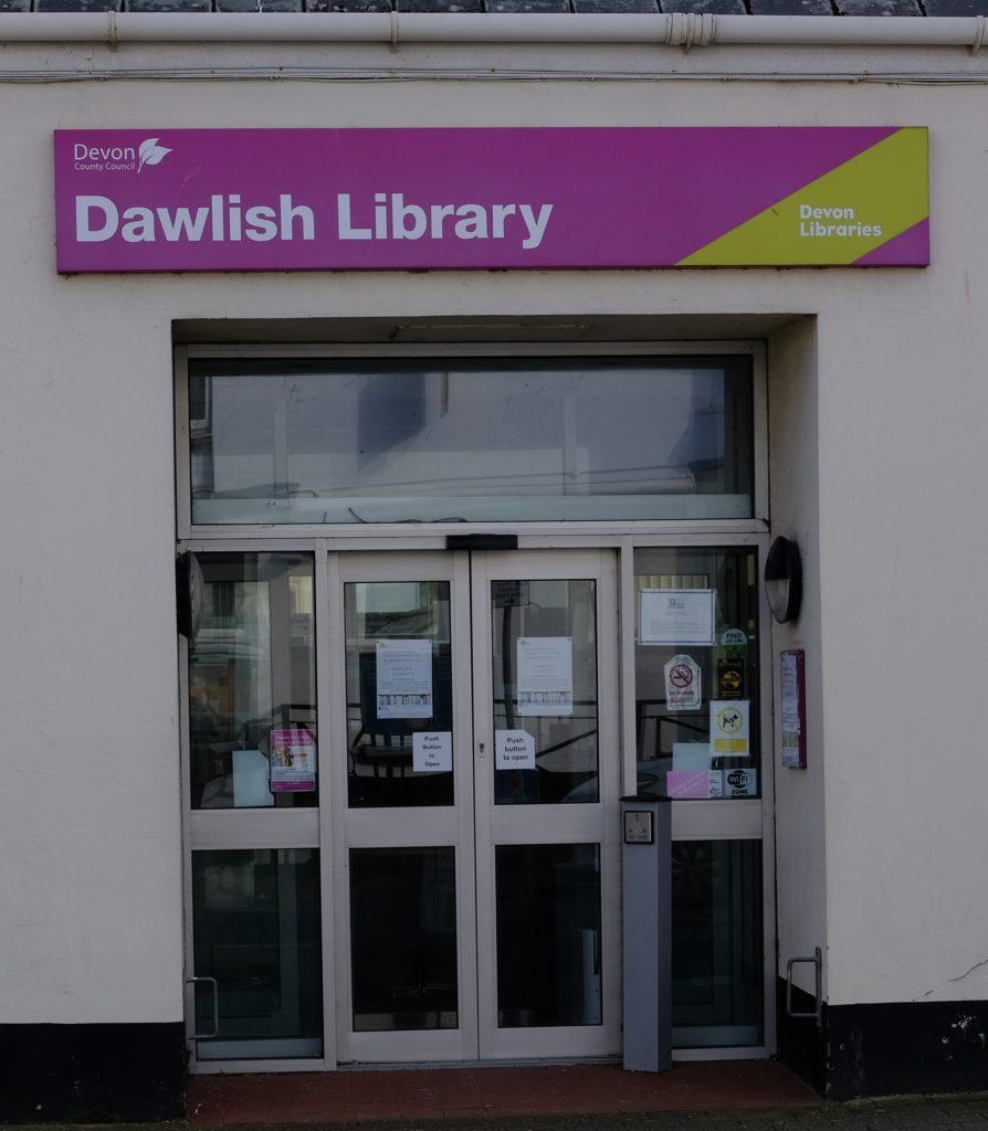 Dawlish library entrance