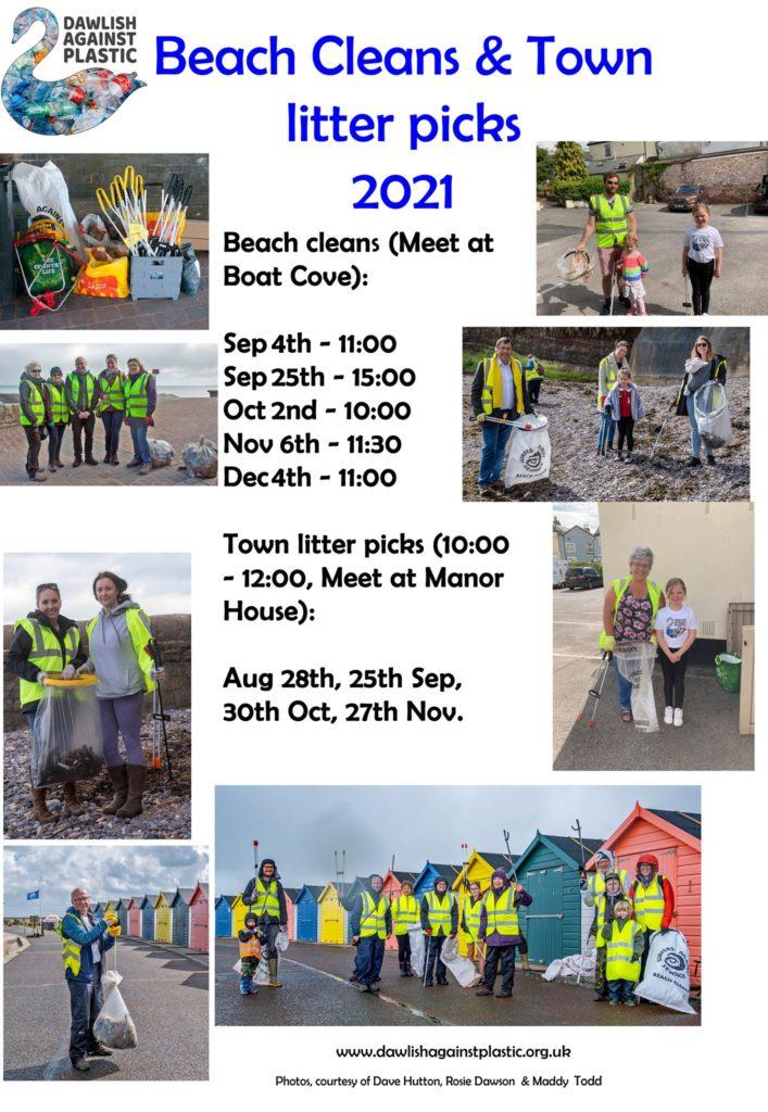 Litter Pick dates in Dawlish