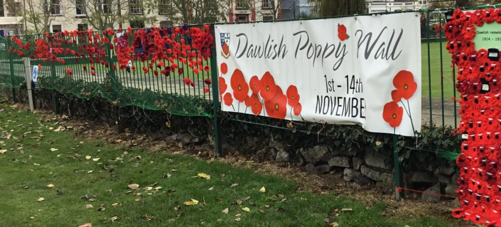 Poppy Wall On Remembrance Sunday At Dawlish